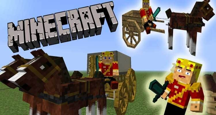 Horse Carts Mod 1.14.4/1.12.2 – Horse Drawn Carts, Astikoor