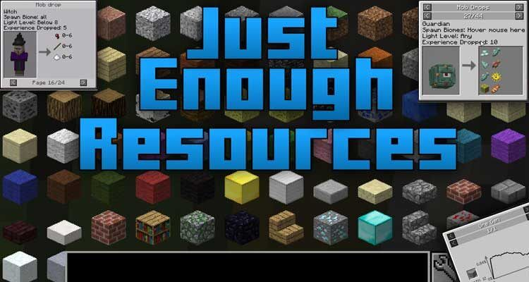 Just Enough Resources Mod 1.14.4/1.12.2 – Add Resources to JEI