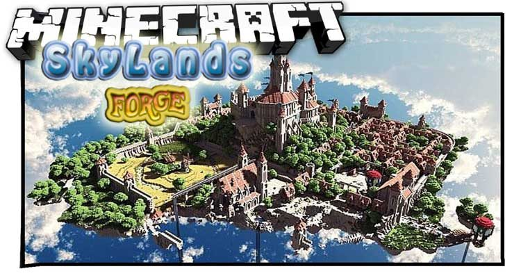 SkyLands Forge Mod 1.12.2/1.10.2 For Minecraft
