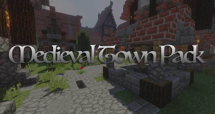 Medieval Town Map Pack 1.12.2/1.11.2 for Minecraft