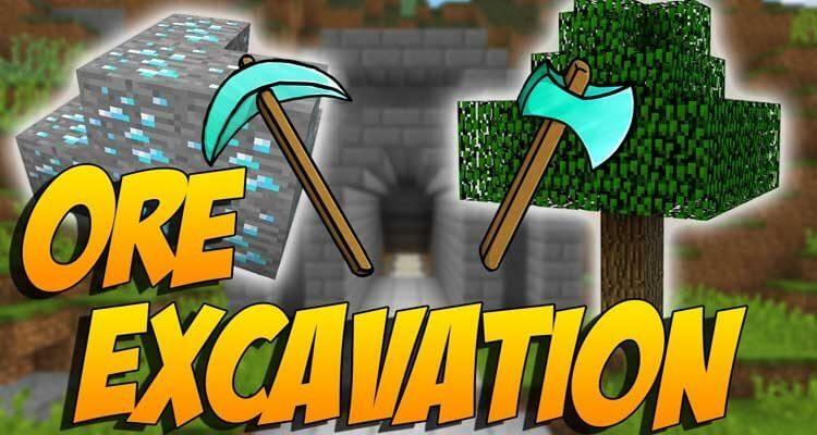 Ore Excavation Mod 1.15.2/1.12.2/1.7.10