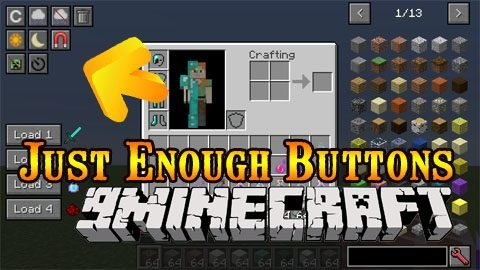 Just Enough Buttons Mod 1.14.4/1.12.2 – Utility Buttons