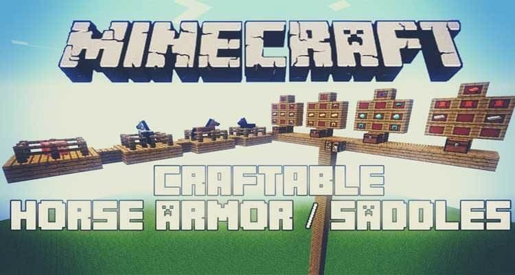 Craftable Horse Armour and Saddle Mod 1.15.1 For Minecraft