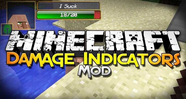 Damage Indicators Mod 1.12.2 / 1.7.10 – Health Bars for Mobs
