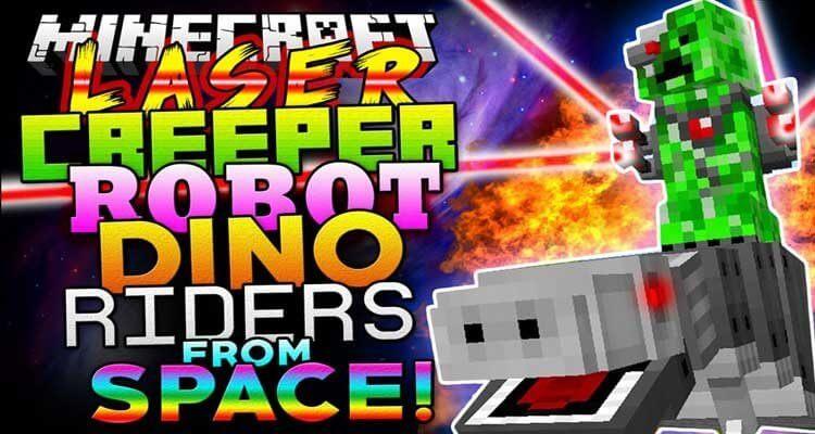 Laser Creeper Robot Dino Riders Mod 1.12.2/1.10.2