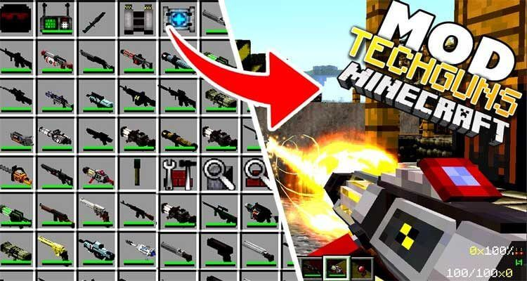 Techguns Mod 1.12.2/1.7.10 – Guns, Worldgen, NPCs, Machines