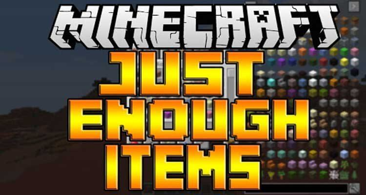Just Enough Items (JEI) Mod 1.16.2/1.15.2/1.12.2