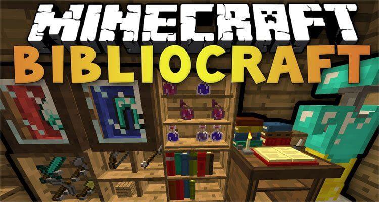 BiblioCraft Mod 1.12.2/1.11.2 – Armor Stands, Bookcase