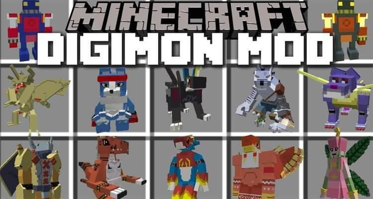 Digimobs Mod 1.12.2/1.11.2 – Digimon in Minecraft