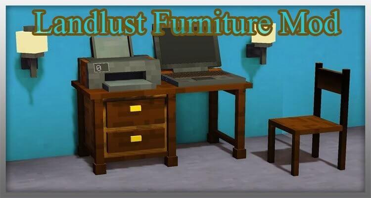 Landlust Furniture Mod 1.12.2/1.10.2 – Decorative Pieces of Furniture