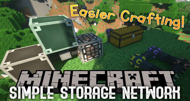 Simple Storage Network Mod 1.15.2/1.14.4/1.12.2