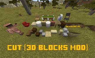 Cut (3D blocks mod) Mod 1.15.2/1.14.4/1.12.2