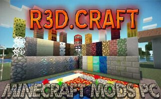 R3D CRAFT 512px Resource Pack 1.12.2/1.11.2/1.10.2