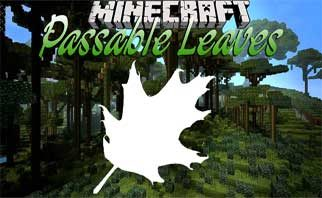 Passable Foliage Mod 1.16.2/1.15.2