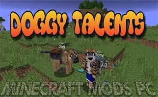 Doggy Talents Mod 1.16.4/1.12.2/1.7.10