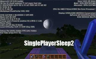 SinglePlayerSleep2 Bukkit Plugins 1.16/1.15/1.14