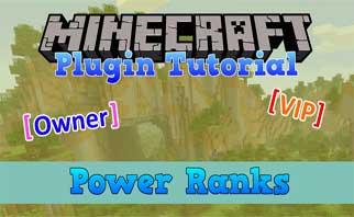 PowerRanks Bukkit Plugins 1.16/1.15/1.14
