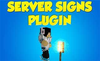 ServerSigns Bukkit Plugins 1.15/1.14/1.9