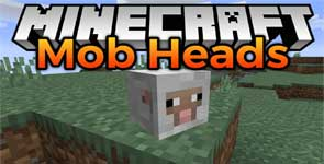 Mob Heads Mod 1.15.2 for Minecraft