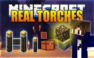 Realistic Torches Mod 1.16.5/1.15.2/1.12.2