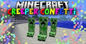 Creeper Confetti Mod 1.16.3/1.12.2/1.7.10