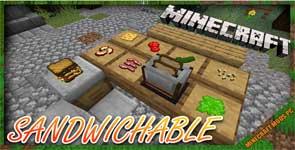 Sandwichable Mod 1.16.5/1.16.4/1.15.2