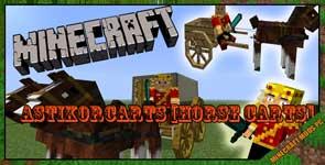 AstikorCarts [Horse Carts] Mod 1.16.5/1.15.2/1.12.2