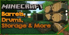 Barrels, Drums, Storage & More Mod 1.12.2
