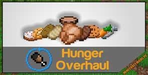 Hunger Overhaul Mod 1.12.2/1.10.2/1.7.10