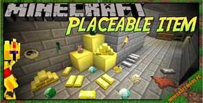 Placeable Items Mod 1.15.2/1.12.2/1.7.10