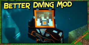 Better Diving Mod 1.16.5/1.12.2/1.10.2