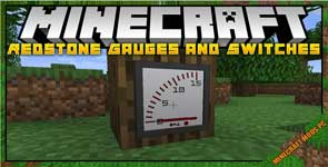 Gauges and Switches Mod 1.16.5/1.5.2/1.12.2
