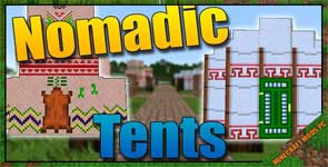 Nomadic Tents Mod 1.15.2/1.14.4/1.12.2