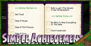 Simple Achievements Mod 1.10.2/1.9.4/1.7.10