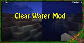 Clear Water Mod 1.17.1/1.15.2/1.12.2