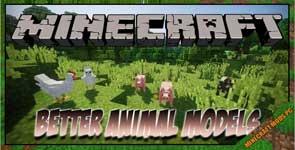 Better Animal Models Mod 1.16.5/1.15.2/1.12.2