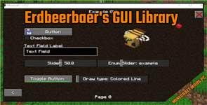 Erdbeerbaer's GUI Library Mod 1.16.5/1.15.2/1.12.2