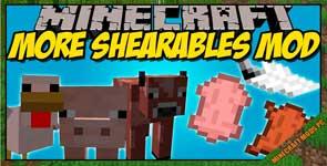 More Shearables Mod 1.12.2/1.11.2/1.10.2