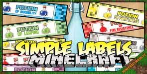 SimpleLabels Mod 1.10.2/1.8.9/1.7.10
