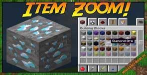 ItemZoom Mod 1.16.5/1.15.2/1.12.2