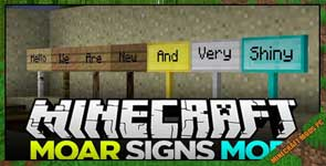 MoarSigns Mod 1.12.2/1.11.2/1.10.2