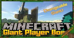 Giant Player Boss Mod 1.12.2