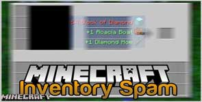 Inventory Spam [Forge] Mod 1.17.1/1.16.5/1.15.2